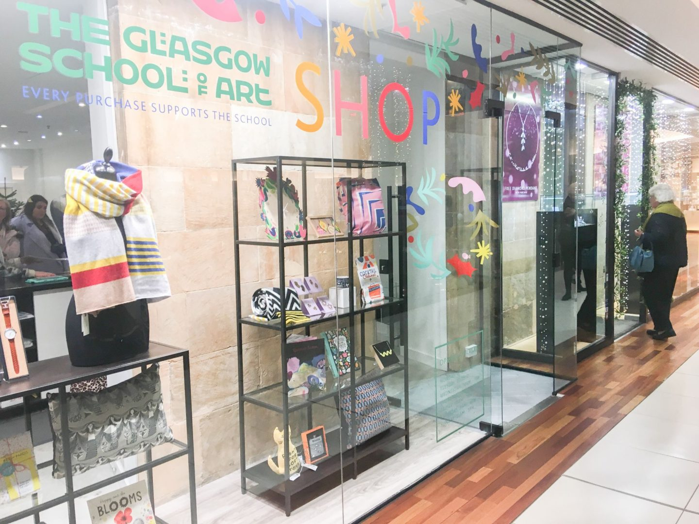 glasgow school of art pop-up shop