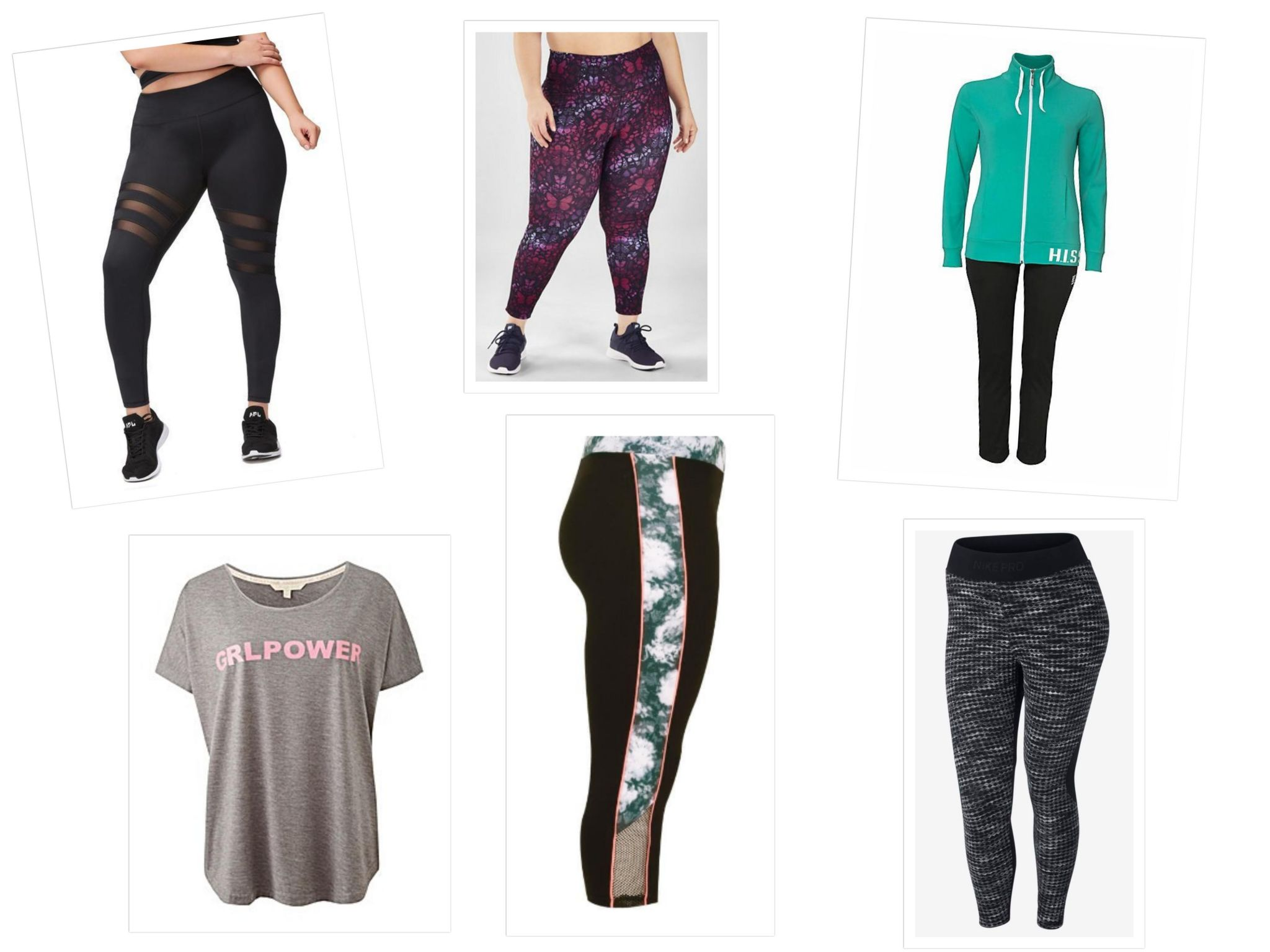 plus size sports wear