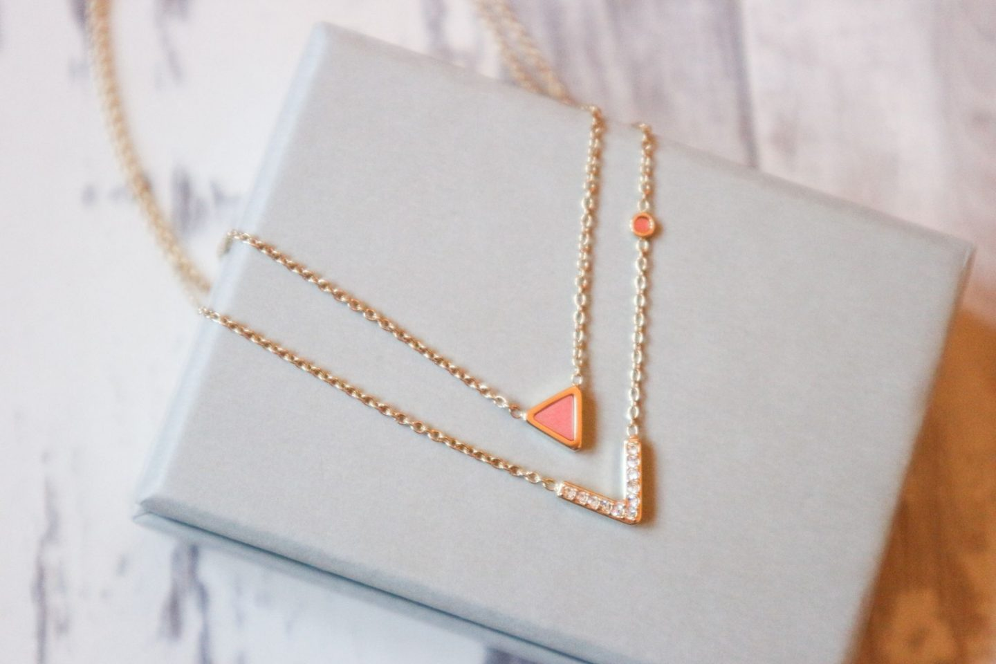 triangle necklace from Fossil