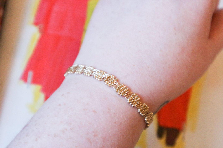 chic cross-hatch bracelet from Oliver Bonas