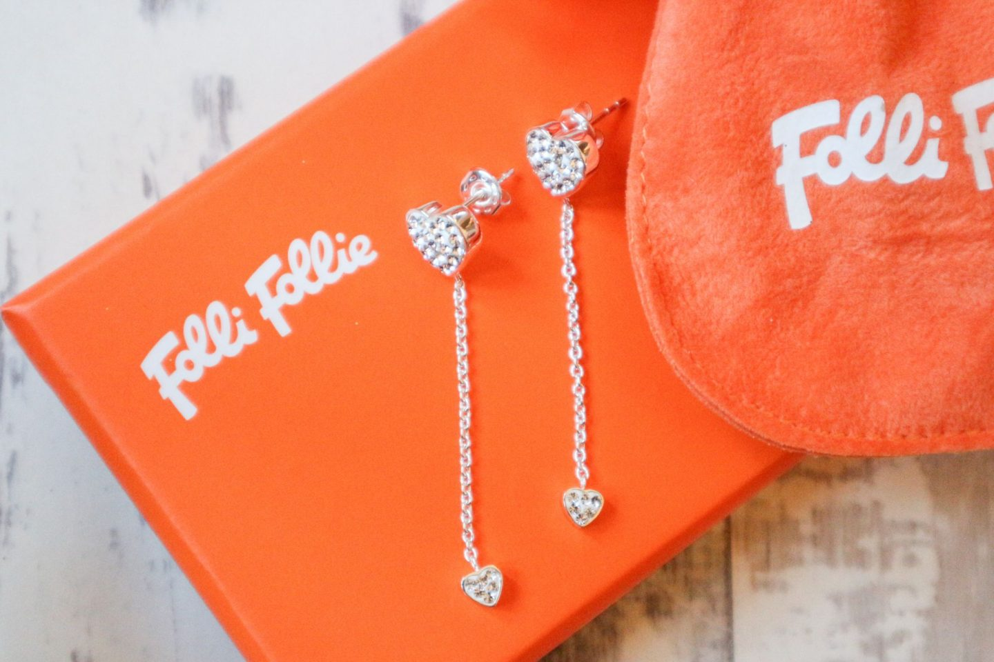 heart drop earrings from Folli Follie