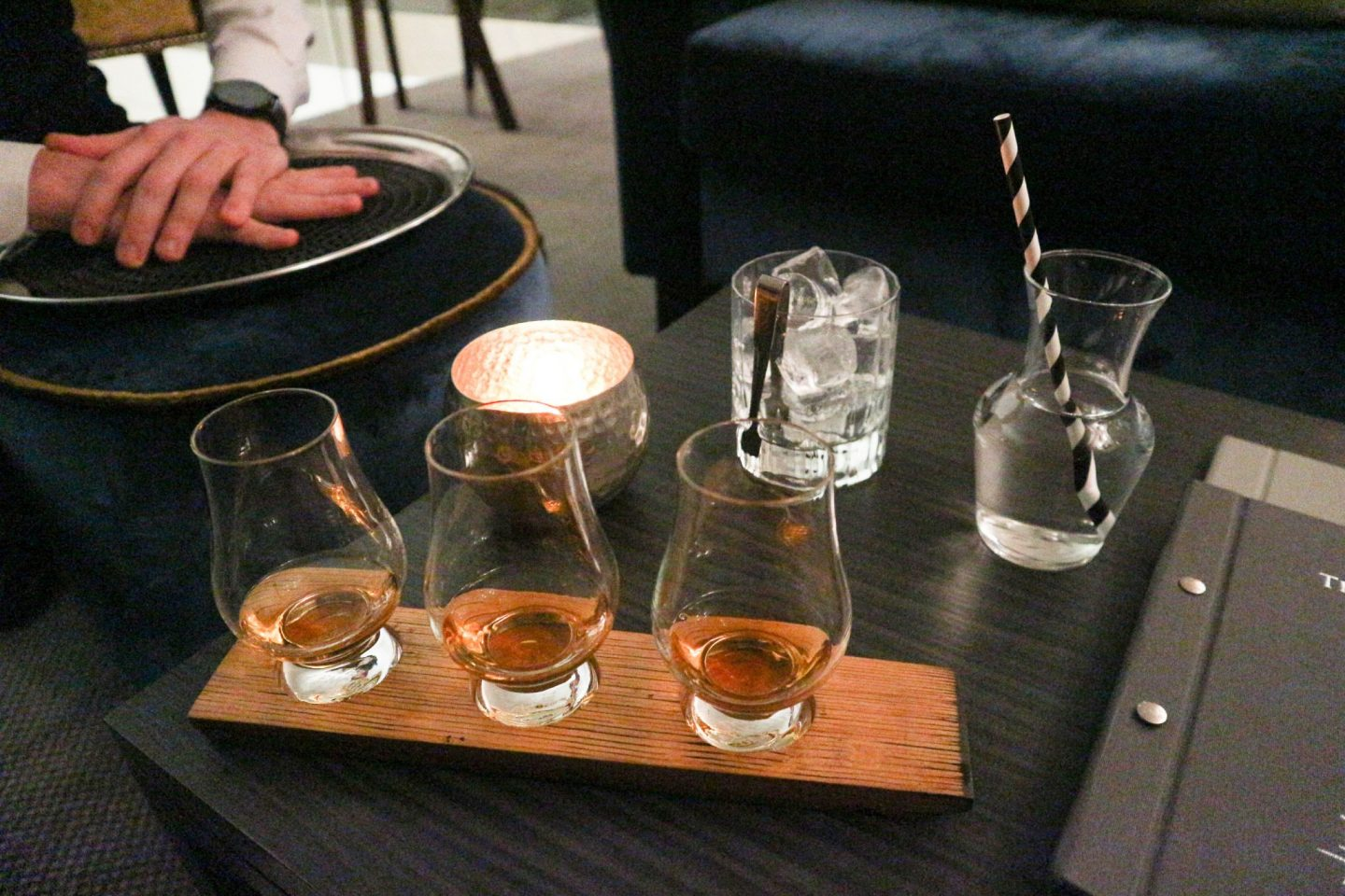 the glasshouse edinburgh the snug whisky flight