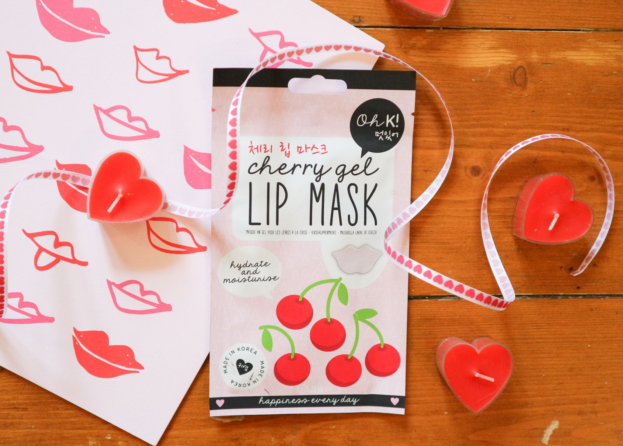 oh k cherry lip mask
