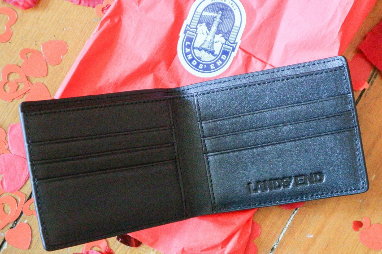 Land's End Men's Leather Bi-Fold Wallet