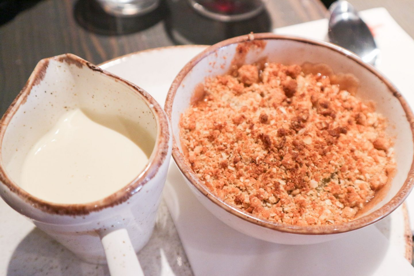 Sticky Toffee Apple Crumble