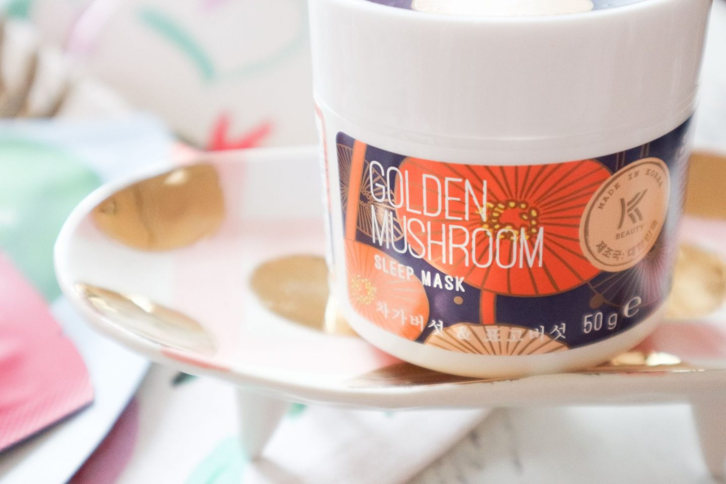 Avon Golden Mushroom Sleep Mask