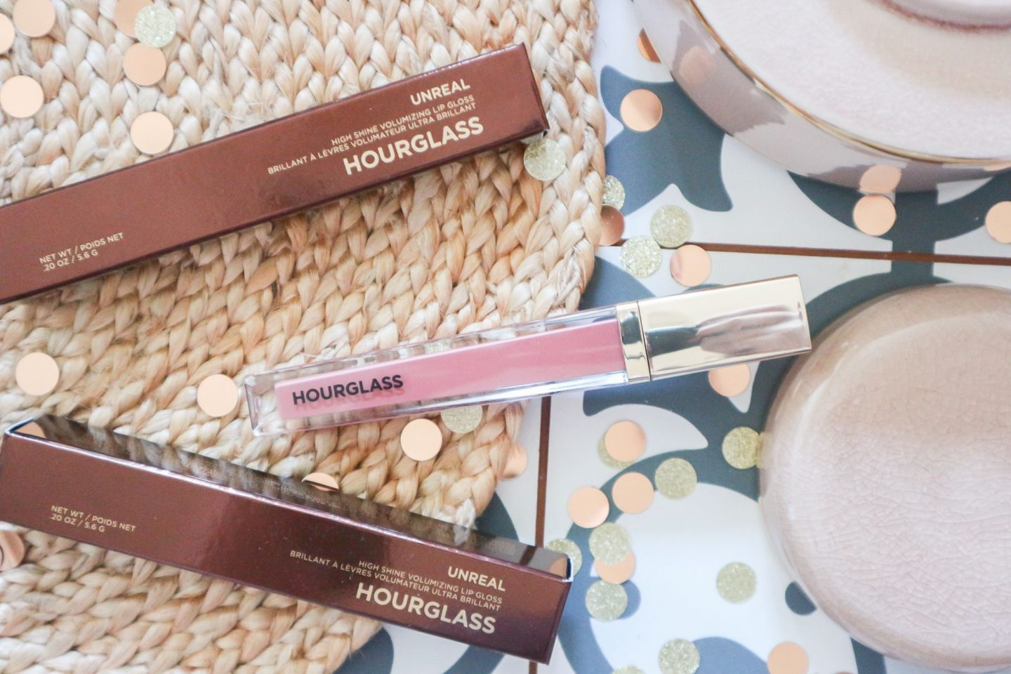 Hourglass Unreal High Shine Volumizing Lip Gloss in Canvas