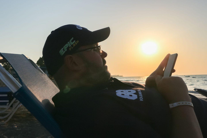 watching a sunset