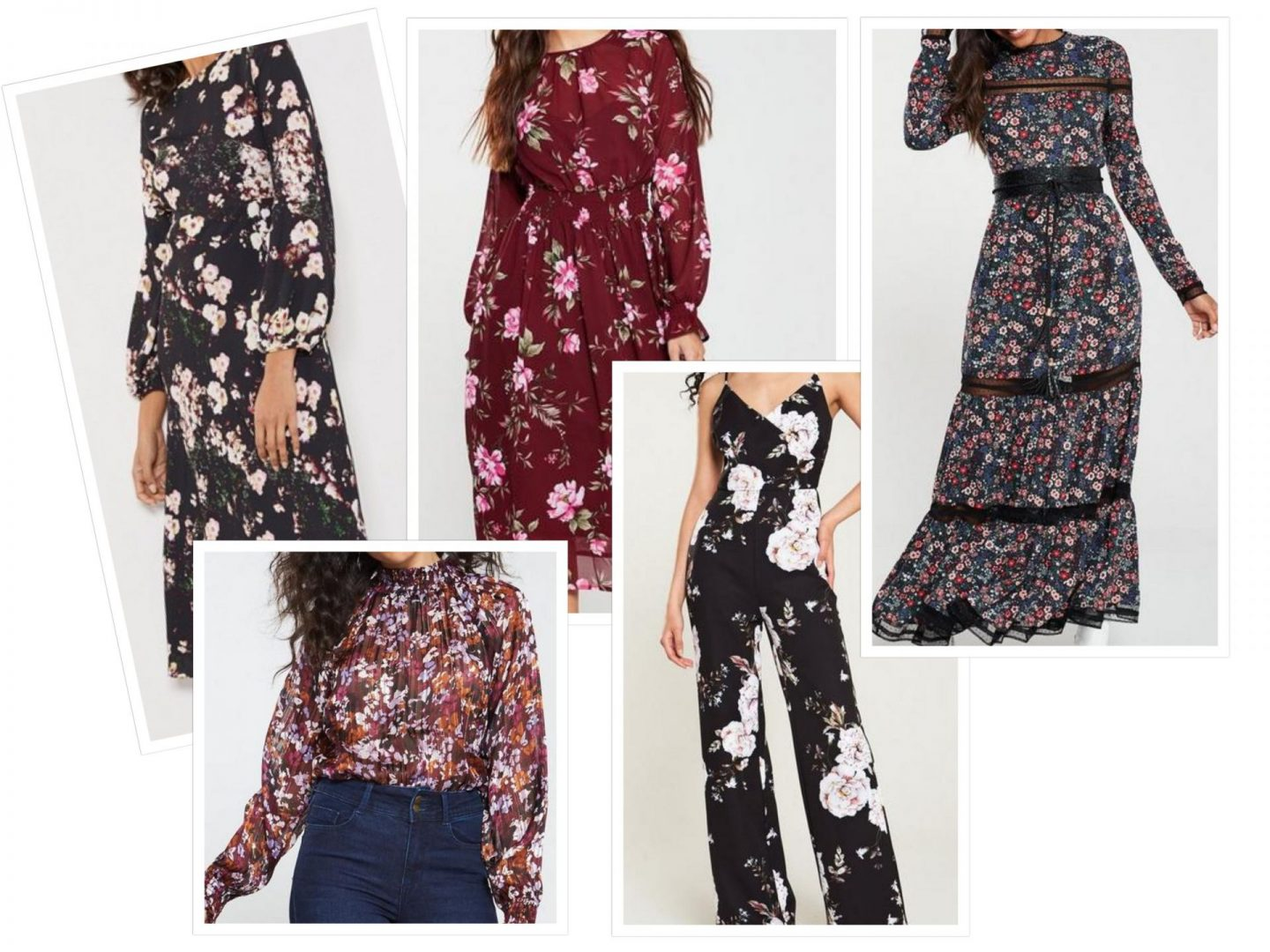 AW19 fashion trends gothic floral