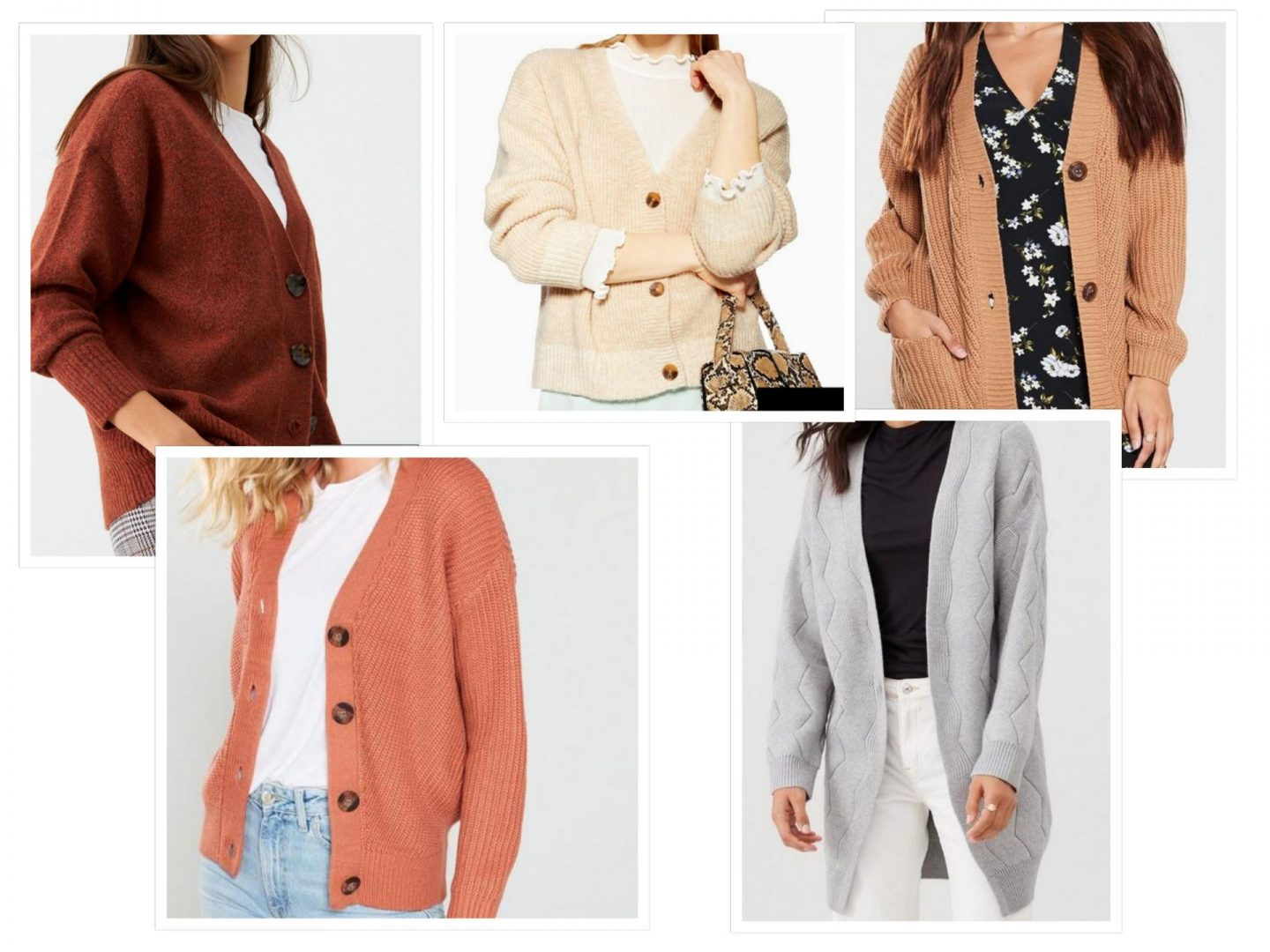 AW19 fashion trends cardigans