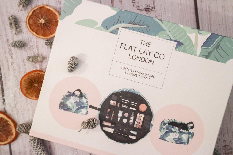 The Flatlay Co London Tropical Leaves Open Flat Makeup Bag