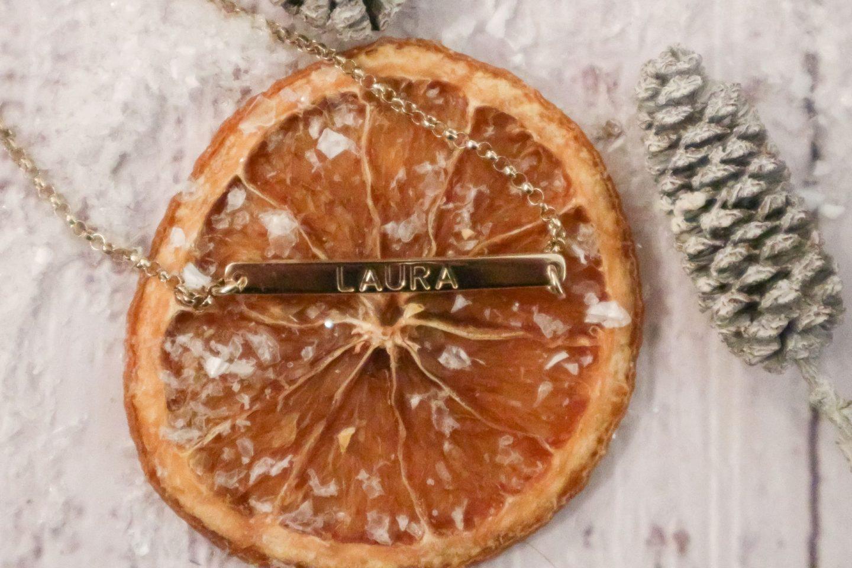 Personalised Skinny Bar Bracelet 24K Gold-Plated Silver