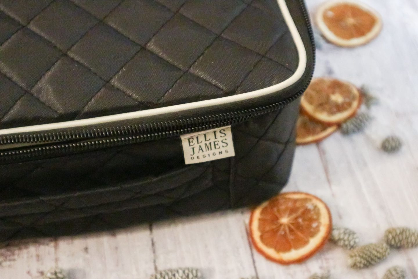 Ellis James Black Makeup Train Case