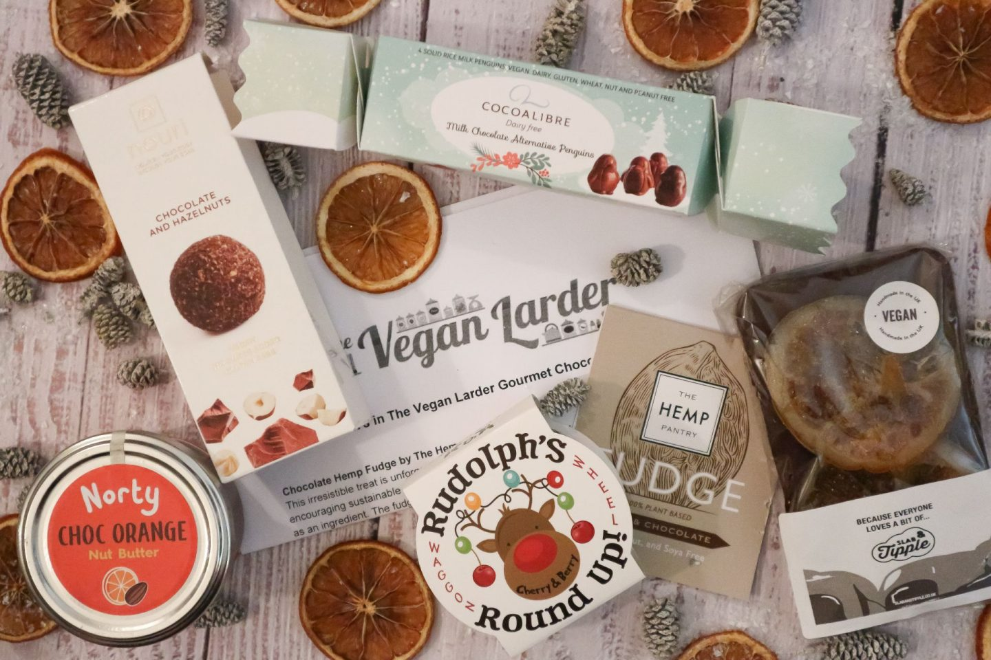The Vegan Larder Christmas Gourmet Chocolate Gift Box