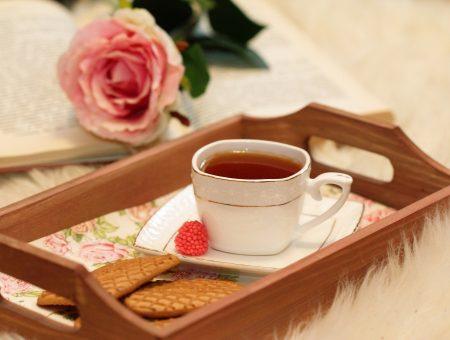 cosy tea on tray