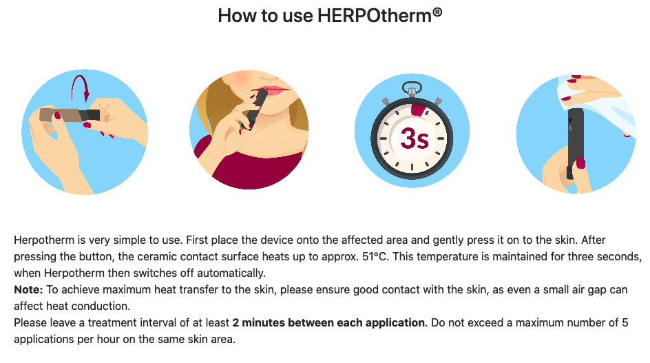 herpotherm instructions