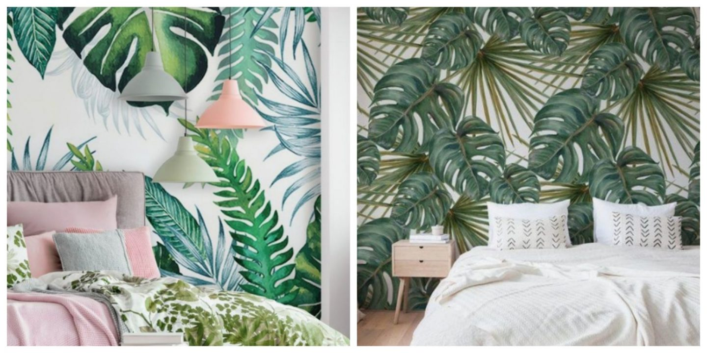 palm leaf bedroom