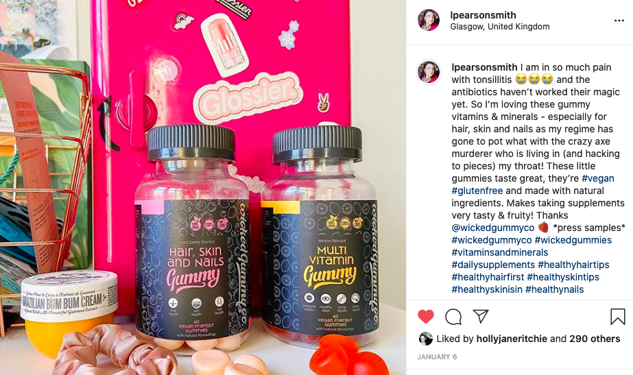 Wicked Gummies Hair, Skin & Nails Gummy