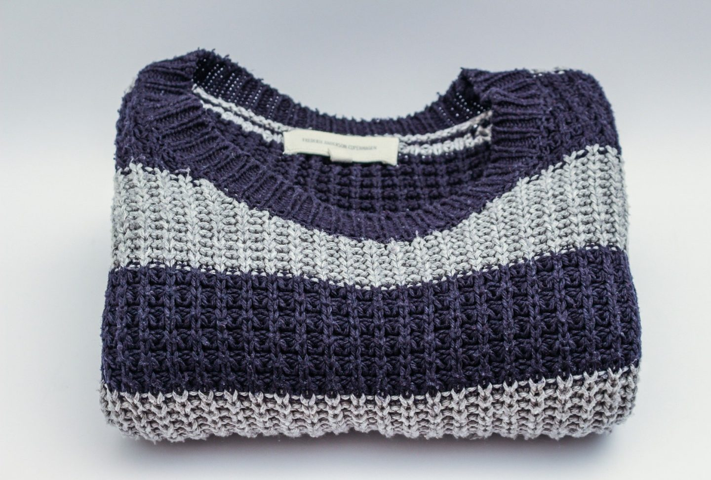 folded knitted jumper