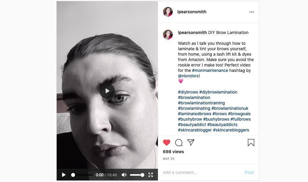 diy brow lamination tutorial