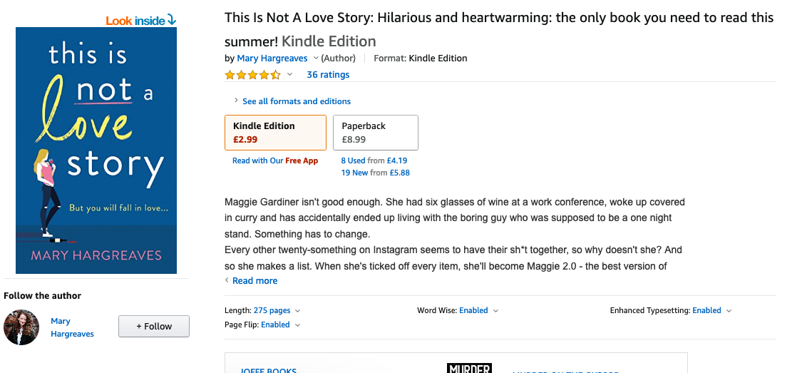 This is not a Love Story by Mary Hargreaves