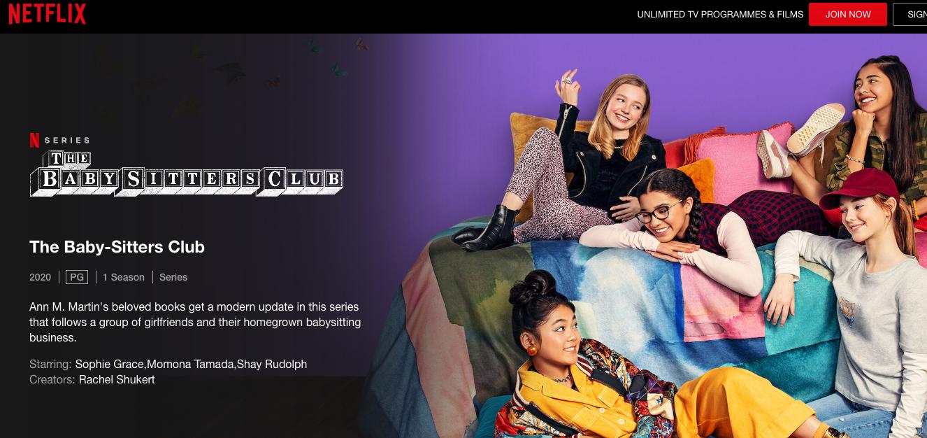 The Babysitter's Club on Netflix