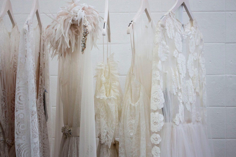 pretty hanging dresses