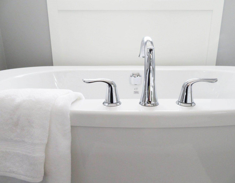 shiny white bath