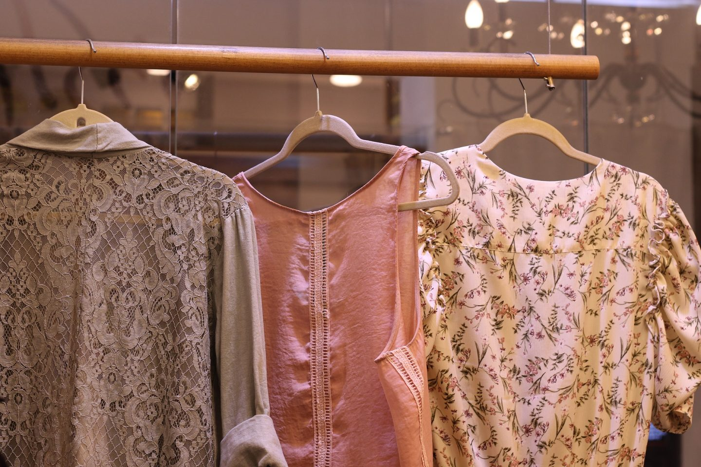 womens clothes on rack