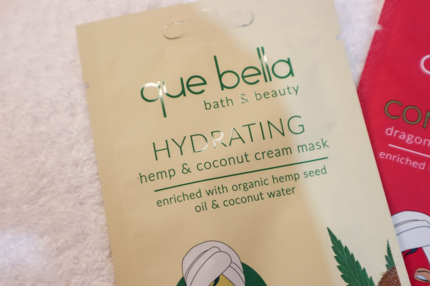 Que Bella Hydrating Hemp & Coconut Cream Mask review