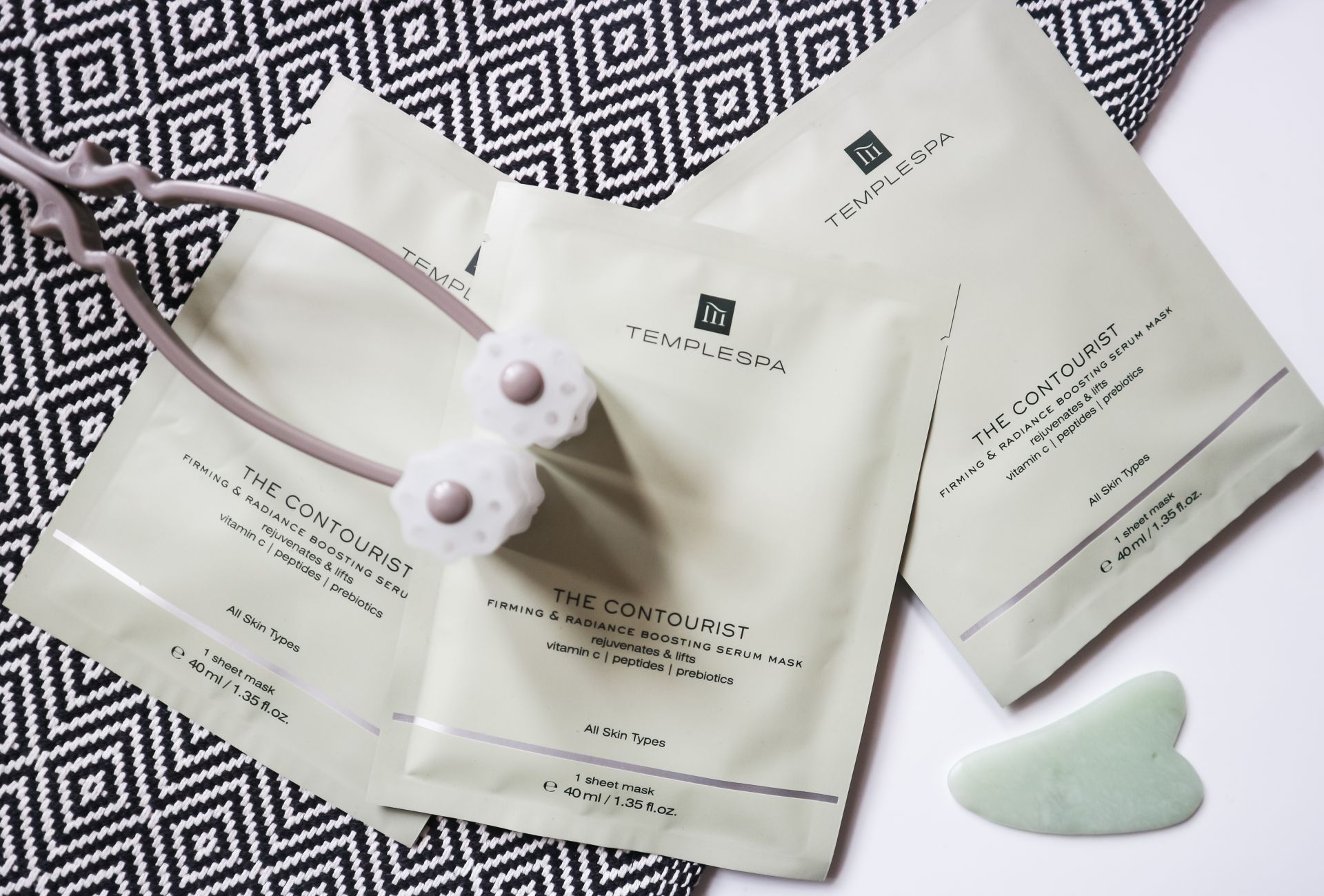 temple spa the contourist firming & brightening sheet mask