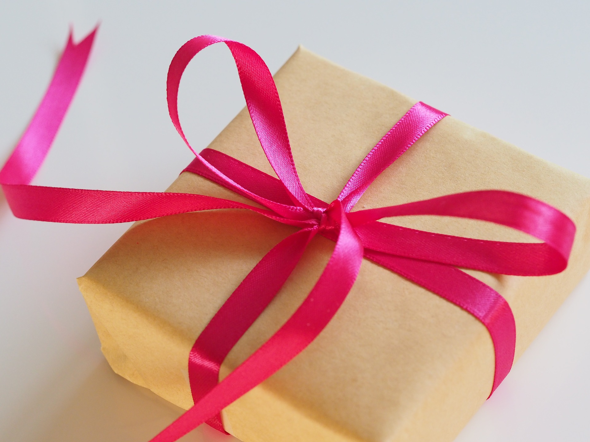pink ribbon gift