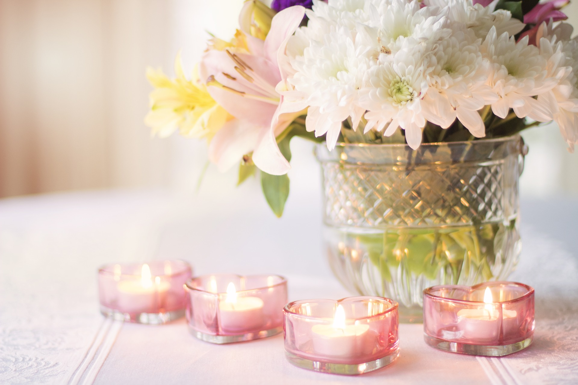 romantic party decor