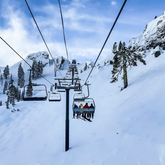skiing snow chairlift