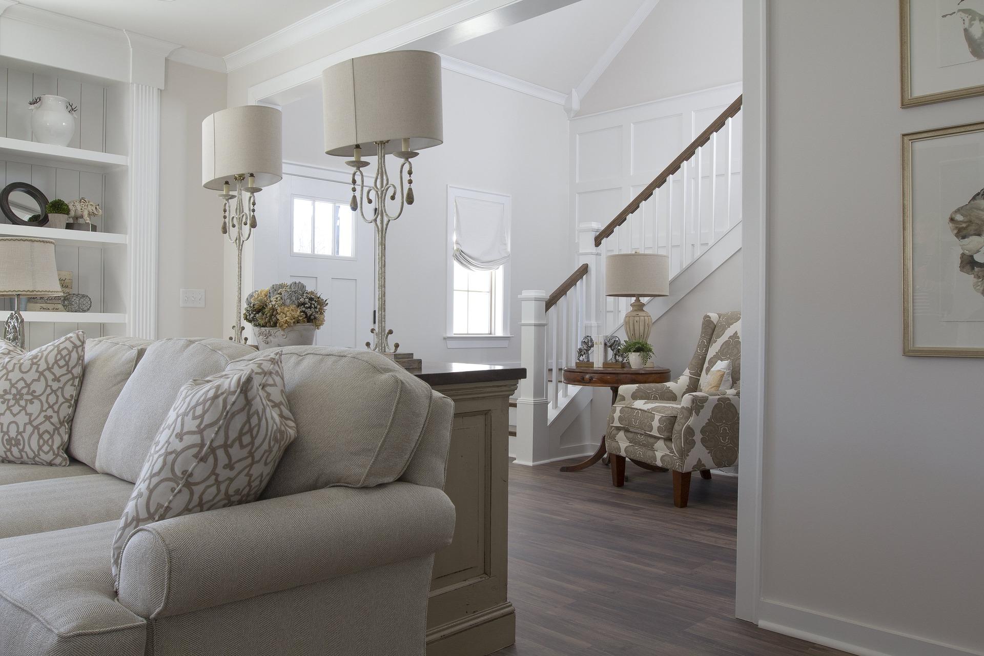 cream living room